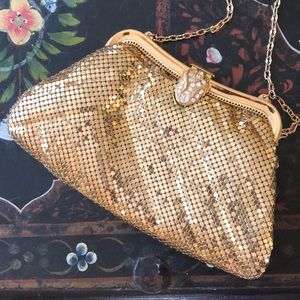 Whiting & Davis vintage evening bag with chain